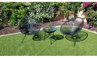 Bungalow Rose Fougere 3 Piece Rattan Chairs