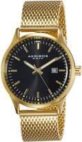 Akribos XXIV Men's AK901YGB Round Radiant Sunburst Dial Three Hand Quartz Movement Bracelet Watch