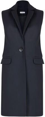 Allora Wool Cashmere Sleeveless Coat - Black