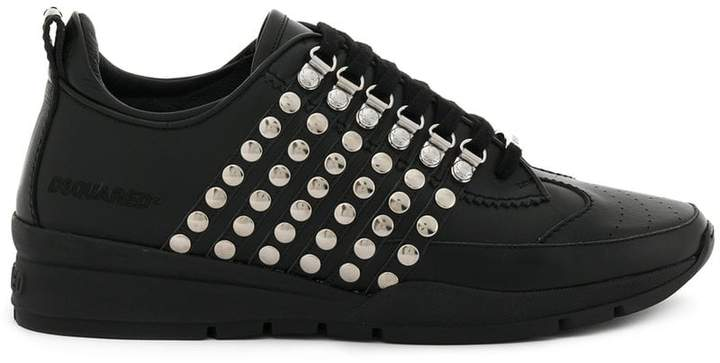 DSQUARED2 stud striped sneakers