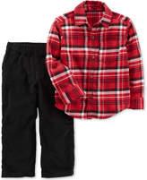 Carter's 2-Pc. Plaid Cotton Shirt and Cotton Corduroy Pants, Toddler Boys (2T-4T)