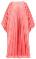 Roksanda Oleria Dolman-sleeve Pleated Taffeta Gown - Womens - Pink