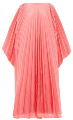 Roksanda Oleria Dolman-sleeve Pleated Taffeta Gown - Pink