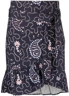 Etoile Isabel Marant Liliko paisley-print mini skirt