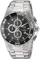 Technomarine Women's Quartz Watch with Grey Dial Chronograph Display and Silver Stainless Steel Bracelet TM-215043