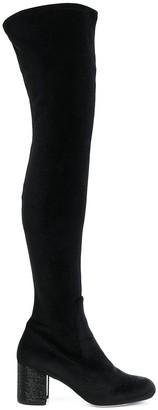 Rene Caovilla Studded Thigh Length Boots