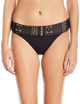 Bleu Rod Beattie Women's Sneak Peak Crochet Band Midster Bikini Bottom