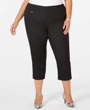 Alfani Plus Size Pull-On Slim-Leg Capris, Created for Macy's