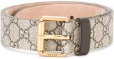 Gucci GG Supreme bee belt - men - Calf Leather - 95
