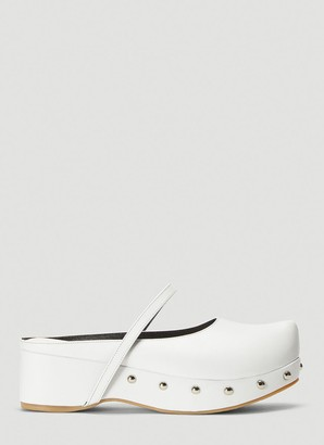 Flat Apartment Pointed-Toe Platform Mules