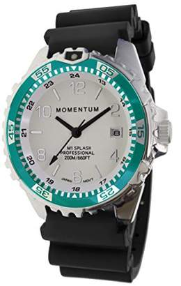 Momentum Women's Quartz Watch | M1 Splash by Momentum| Stainless Steel Watches for Women | Dive Watch with Japanese Movement & Analog Display | Water Resistant ladies watch with Date -Lume / Aqua Rubber
