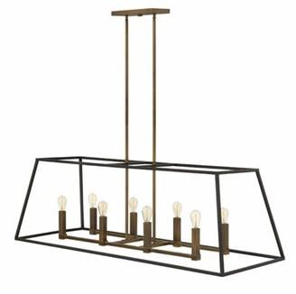 Burley Foundry Select Oak 8-Light Kitchen Island Linear Pendant Foundry Select