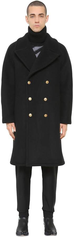 Givenchy Oversize Heavy Wool Blend Felt Coat