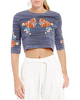 Gianni Bini Gwendoline Embroidered Knit Top