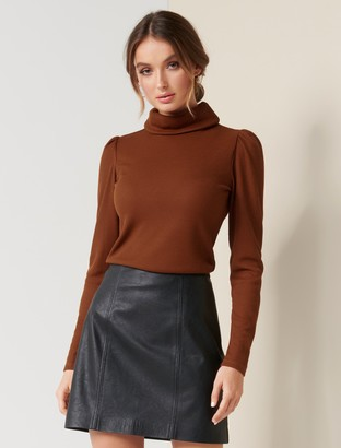 Forever New Rochelle Roll-Neck Fashion Skivvy - Rust - m