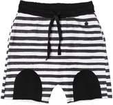 Fred Mello Striped Cotton Sweat Shorts