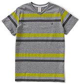 Calvin Klein Big Boys 8-20 Striped Stagger V-Neck Tee
