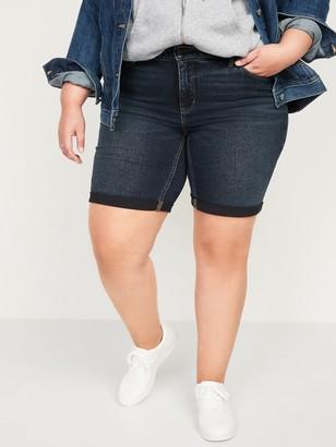 Old Navy Mid-Rise Secret-Slim Pockets Plus Size Bermuda Jean Shorts -- 9-inch inseam