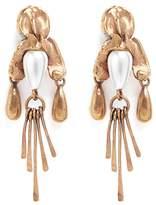 Valentino Glass pearl fringe drop earrings