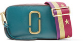 Marc Jacobs Snapshot Color-block Textured-leather Shoulder Bag - Teal