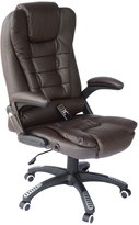 HomCom Adjustable Heated Ergonomic Massage Office Chair Swivel Vibrating High Back Leather Executive Chair Home Office Furniture