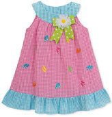Rare Editions Flip-Flop Gingham-Print Ruffle Dress, Toddler and Little Girls (2T-6X)