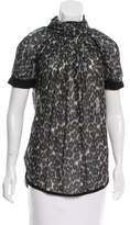 Marc Jacobs Leopard Print Gathered Top