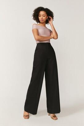Coast Essential Cotton Sateen Wide Leg Trousers