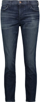 Current/Elliott The Stiletto cropped mid-rise skinny- jeans
