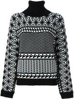 DSQUARED2 patterned turtleneck jumper - women - Polyester/Viscose - XS