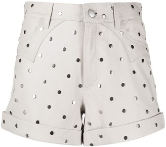 Zadig & Voltaire Fashion Show Scott stud-embellished shorts