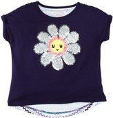 Design History Daisy Sequins Embellished Top (Toddler/Kid) - Blue-6x