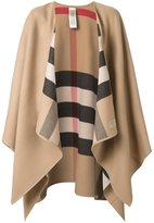Burberry house Check reversible cape - women - Merino - One Size