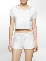 Calvin Klein Limited Edition Cropped Pull-On Hoodie