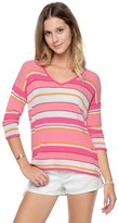 Juicy Couture Textured Cabana Stripe Pullover
