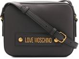 Love Moschino logo plaque adjustable strap satchel bag