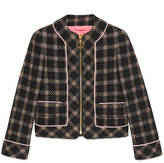 Gucci Lurex tweed jacket with detachable scarf