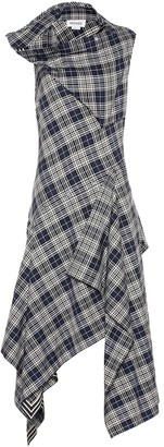 Monse Checked cotton-blend dress