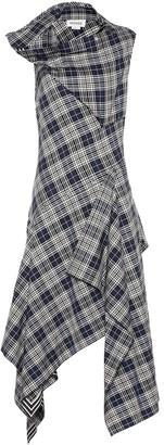 Monse Checked cotton-blend dress