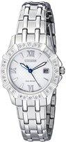 Citizen Women's 'Diamond' Quartz Stainless Steel Casual Watch (Model: EW2360-51A)
