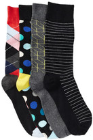 Happy Socks Assorted Sock Gift Box - Pack of 4