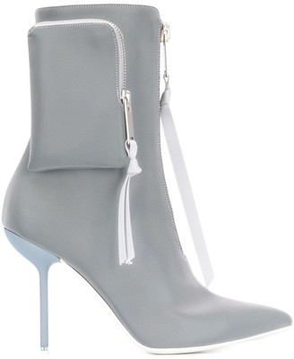 Unravel Project Stiletto Pointed Ankle Boots