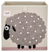 3 Sprouts Fabric Cube Storage Bin - Sheep
