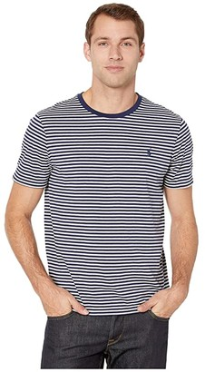 Polo Ralph Lauren Custom Slim Fit Striped Tee (Andover Heather/Newport Navy) Men's T Shirt