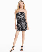 White House Black Market Strapless Floral Printed Romper