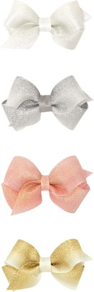 PLH Bows 4-Pack Wee Shimmer Bow Hair Clips