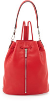 Elizabeth and James Cynnie Leather Drawstring Backpack, Red Joy