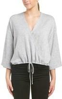 MinkPink Wrap Front Wool-blend Sweater.