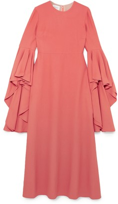 Giambattista Valli Fluted Crepe Midi Dress