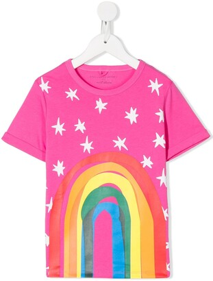 Stella McCartney rainbow print T-shirt